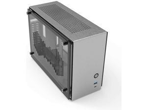 Zalman M2 Mini Silver ITX Aluminum, USB 3.1, USB 3.0, Rounded Edges, Cool Airflow, Acrylic Panel, Vertical GPU Mount and Riser