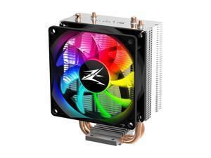 Zalman CNPS4X RGB CPU Cooler, 2 Heatpipes, 92mm, Intel/amd supported.  LGA775.115x/1200 CPUS, AM4/AM3+/AM3/FM2+/FM2 CPUS