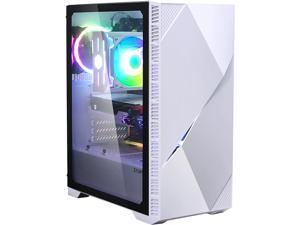 Zalman Z3 Iceberg (White) ATX Mid Tower Gaming Case, 2X addressable RGB Fans, Premium Tempered Glass side door, USB 3.0, Magnetic Dust Filter, cable management system