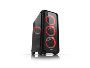ZALMAN Z7 Neo ATX Mid-Tower, Pre-Installed 4 RGB LED Ring fans (3 x front, 1 x rear, comes in 7 different colors) w/RGB LED Fan Controller, Tempered Glass Side panels.