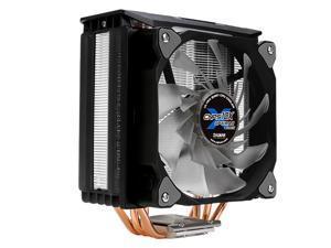 ZALMAN CNPS10X Optima II Ultra Quiet CPU Cooler, 120mm PWM RGB LED Dual Blade Fan, w/White frame design, 4 heat pipes