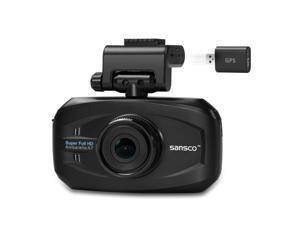 SANSCO 2K Extreme HD 1296P Car Dash Cam with GPS Tracking, 3-Inch Screen In-Car Dashboard Camera with Mapping/Route/Speed Alerts - Ambarella Chip Up to 167-degree Fahrenheit