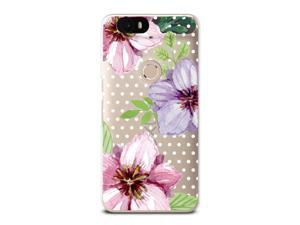 Nexus 6P Soft Case, CasesByLorraine Floral Flower Clear Transparent Case Polka Dots TPU Soft Gel Protective Cover for Huawei Nexus 6P (P53)