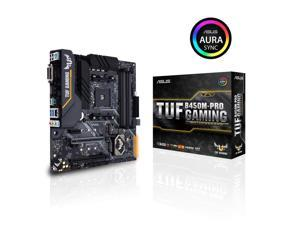 Asus TUF B450M-Pro Gaming AMD Ryzen 3 AM4 DDR4, HDMI, Dual M.2, USB 3.1 Gen 2 and Aura Sync RGB LED Lighting Micro-ATX Motherboard
