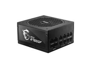 MSI MPG A750GF, 750W 80 PLUS Gold, Full-Modular, Quiet FDB Fan, Support 3 8Pin Interface Power Supply, For RTX 30 Series Video Card, Perfect Power Supply for Gaming and Various Application
