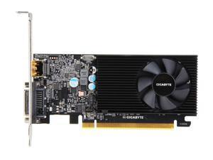 GIGABYTE GeForce GT 1030 DirectX 12 GV-N1030D4-2GL 2GB Core Clock OC mode: 1177 MHz 64-Bit DDR4 Low Profile Video Card