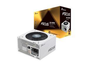 Seasonic FOCUS GX-850 White, 850W 80+ Gold, Full-Modular, Fan Control in Fanless, Silent, and Cooling Mode, Perfect White Power Supply for Gaming and Various Application,