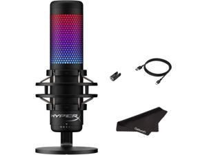 HyperX QuadCast S - RGB USB Condenser Microphone for PC, PS4, Mac, Gaming, Streaming, Podcasts, Twitch, YouTube with GalliumPi Bundle