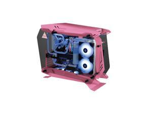 """Tower Gaming Computer Case Mid-tower chassis motherboard supports ATX/MATX/ITX standard ATX PSII PSU gray/white, pink 160-180MM hard disk positions 2*3.5 """", 3*2.5"""" front USBUSB3.0*1, USB2.0*2 , Earpho"""