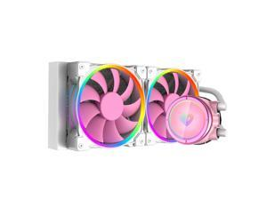 CPU Fans & Heatsinks  ID-COOLING PINKFLOW 240 CPU Water Cooler 5V Addressable RGB AIO Cooler 240mm CPU Liquid Cooler 2X120mm RGB Fan, Intel 115X/2066, AMD TR4/AM4 (Remote Controller is Included)