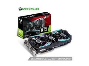 MAXSUN GeForce RTX 2060 iCraft 6GB 192-Bit GDDR6 12nm Graphics Cards PCI Express 3.0 x16 DP HDMI DVI HDCP Ready RGB Video Card
