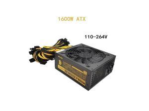1600W Miner Power Supply 110V-264V 90 PLUS Gold Server Industrial Control Power Support 6-8 Video Cards