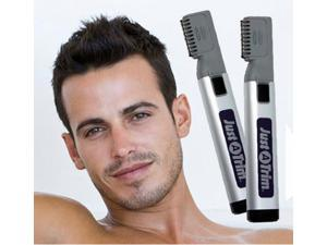 Cordless Hair Clipper Remover Mistake proof Trimmer Just A Trim Battery operated Hair Beard Razor Groomer Back Mustaches Sideburns Haircut Blade Knife Eliminator Portable Hair Trimmer Home DIY