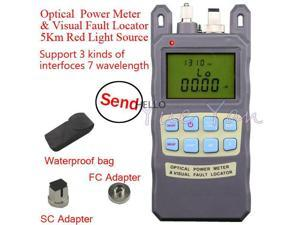 Fiber Optical Power Meter -70~+10dBm 1mw 5km Cable Tester  Visual Fault Locator