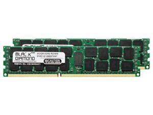 4GB 2X2GB Memory RAM for IBM BladeCenter Series HS22 Type 7870-xxx (VLP Memory) DDR3 RDIMM 240pin PC3-10600 1333MHz Black Diamond Memory Module Upgrade
