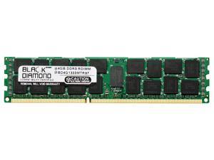 4GB RAM Memory for IBM BladeCenter Series HS22 Type 7870 (VLP Memory) 240pin PC3-10600 DDR3 RDIMM 1333MHz Black Diamond Memory Module Upgrade