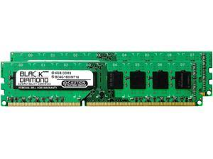 8GB 2X4GB Memory RAM for Asus P7 Series P7P55D-E 240pin PC3-12800 1600MHz DDR3 DIMM Black Diamond Memory Module Upgrade