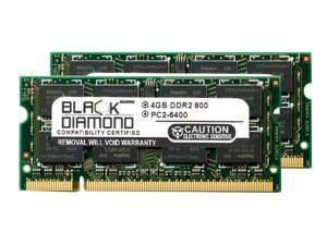 8GB 2X4GB Memory RAM for HP G Series G71-340US 200pin 800MHz PC2-6400 DDR2 SO-DIMM Black Diamond Memory Module Upgrade