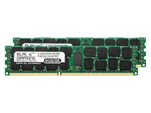 32GB 2X16GB Memory RAM for IBM BladeCenter Series HS22 Type 7870 (VLP Memory), HS22V DDR3 ECC Registered RDIMM 240pin PC3-10600 1333MHz Black Diamond Memory Module Upgrade
