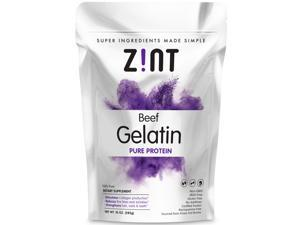 Unflavored Gelatin Powder - 100% Kosher Beef Gelatin By Zint - Pasture Raised (10 Oz. Bag)
