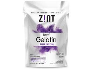 Zint Unflavored Gelatin Powder - Kosher Beef Gelatin - Pasture Raised 2 Lb