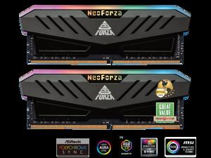 Neo Forza MARS 16GB (2x8GB) 288-Pin DDR4 3600 (PC4 28800) RGB SDRAM Desktop Memory Model NMGD480E82-3600DF20