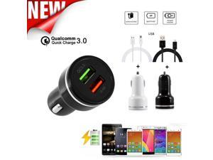 2018 Qualcomm Certified Environmental Composites Anti-jamming QC3.0 Quick Charge With Dual USB Port Car Charge + USB Cable @@