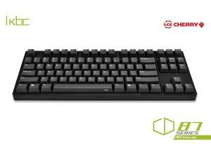 iKBC CD87 PBT Full Size Mechanical Gaming Keyboard with Cherry MX Blue Switch, Black Case
