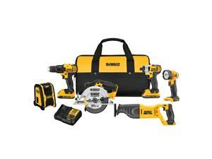 DEWALT 6-Tool 20-Volt Max Lithium Ion (Li-ion) Cordless Combo Kit with Soft Case (DCK620D2)