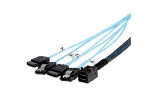 CableCreation Internal HD Mini SAS (SFF-8643 Host) - 4x SATA (Target) Cable,SFF-8643 to 4x SATA Cable, 0.5M, SFF-8643 for Controller, 4 Sata Connect to hard drive