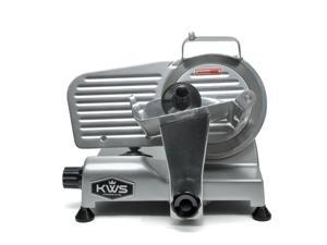 """KWS Premium 200w Electric Meat Slicer 6"""" Stainless Blade, Frozen Meat/ Cheese/ Food Slicer Low Noises"""