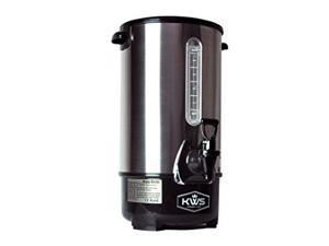 KWS WB-10 9.7L/ 41Cups Commercial Heat Insulated Water Boiler and Warmer Stainless Steel (Silver)