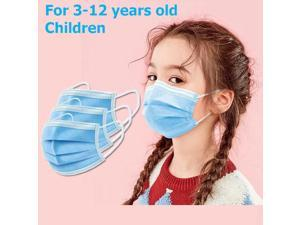 4000PCS Kids mask Disposable Face Mask 3 Layers Anti Dust Infection Bacteria Protective Mask Breathable With Ear Loops for 3 to 12 years old Children (Blue)