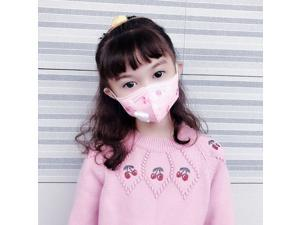 30PCS Reusable Kids KN95 Mask 5-layers - Valved Face Mask Air Anti-Dust / Anti-Fog Mouth Respirator Windproof PM 2.5  For 3 to 12 Years Old Children Pink