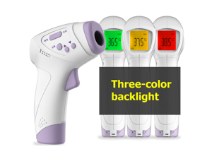Infrared Non-contact Thermometer Temperature Measurement Device Digital Forehead Body Thermometer °C / °F Switch 3 Color Backlight with Fever Alarm HT-668 Clearance Sale