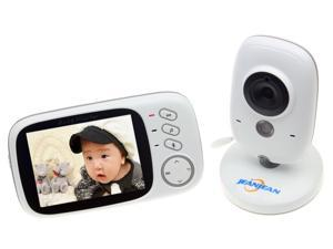 JEANJEAN VB603 Digital Video Baby Monitor 2.4GH 3.2 lnch LCD with Night Vision, Temperature Monitor and Two-way Communication