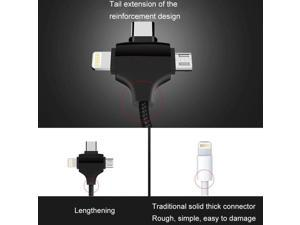 IMGadgets 3 in 1 Charging Cable - USB Type C, Micro USB and 8 Pin