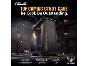 ASUS GT501 TUF Intel 8-Core i7-9700K 3.6GHz - Z390 TUF Chipset - 2TB 7200RPM + 1TB SSD - 32GB TUF DDR4 3000 - Nvidia GeForce RTX 2070 8GB GDDR6 - 700W TUF - Windows 10 Gaming Desktop