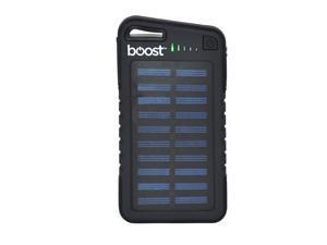 Boost BPB565 - Power bank with Solar Panel, 4000 mAh, 2 USB Ports and LED Flashlight, Black