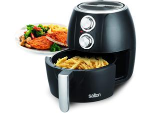Salton Air Fryer, 3L Capacity with Overheat Protection and 30 Minute Timer, Black AF2071