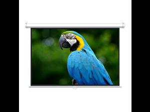 "GlobalTone 100"" 16:9 Manual Projection Screen Soft PVC Matt White"