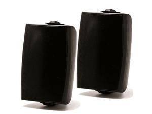 """Prologue AS-108B 8"""" 140W Outdoor-Indoor Speakers Pair 8 Ohms Or 70V With Wall Mounting Brackets Black"""