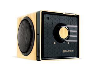 Gogroove Bluesync BX Portable and Rechargeable Bluetooth Speaker Wood GGBSBX0100BRUS
