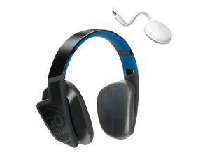 Gogroove Bluevibe FXT Wireless Bluetooth Headset On-Ear Adapter Kit Black GGBVFXT200BLEW