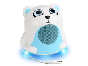 Gogroove Polar Bear Jr Night Time LED Light and Speaker White GGGPJR0100POUS