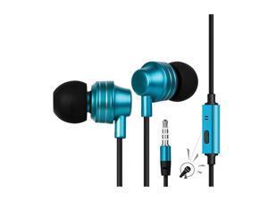 Escape Platinum EHP253 Hands-free Metal Earphones with Microphone Blue
