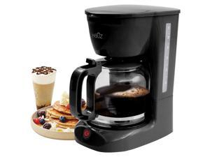 Hauz ACM875 12 Cup 1.8L Drip Coffee Maker Black