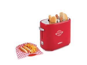 Salton HD1911 Hot Dog Toaster with 5 Levels of Cooking, Red
