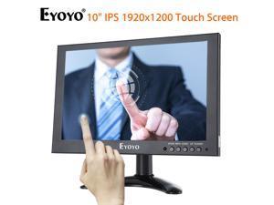 Eyoyo 10 Inch LED Monitor 1920*1200 HD VGA AV BNC USB Video Input IPS Touch Screen Monitor For CCTV DVD PC