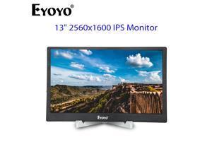"EYOYO 13"" 2K 2560x1600 IPS Gaming Monitor With Dual HD Input Metal Housing For PC Laptop DVD PS3 PS4 Xbox"